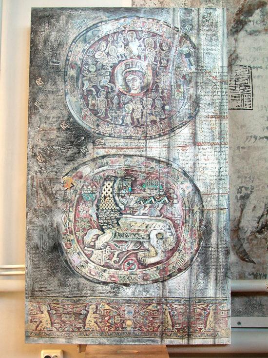 """""""Goddess and Lion"""", panel / The Eighth Project. ©Katya-Anna Taguti"""