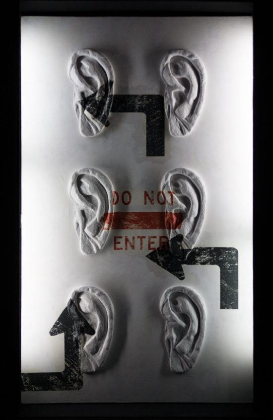 Do not enter / Знаки и направления. 170×100 см. ©Катя-АннаТагути