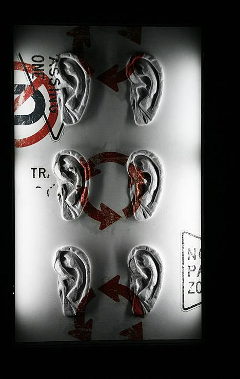 Круговые стрелки / Знаки и направления. 170×100 см. ©Катя-АннаТагути