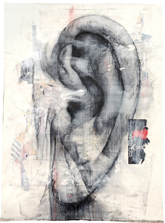 Vasiliy Aksoynov's ear / People. Great portrait. Approximation. © Katya-Anna Taguti